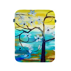 Oil Painting Tree Flower Apple Ipad 2/3/4 Protective Soft Cases by Sapixe
