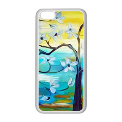 Oil Painting Tree Flower Apple Iphone 5c Seamless Case (white) by Sapixe