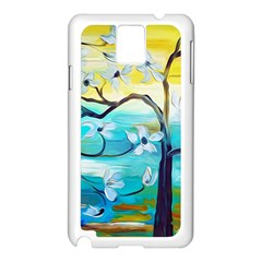 Oil Painting Tree Flower Samsung Galaxy Note 3 N9005 Case (white)