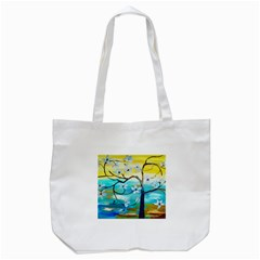 Oil Painting Tree Flower Tote Bag (white) by Sapixe