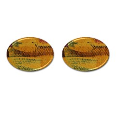 Fabric Textile Texture Abstract Cufflinks (oval) by Sapixe