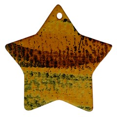 Fabric Textile Texture Abstract Star Ornament (two Sides)