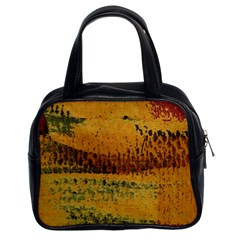 Fabric Textile Texture Abstract Classic Handbags (2 Sides)
