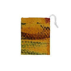 Fabric Textile Texture Abstract Drawstring Pouches (xs)