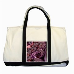 Abstract Art Fractal Art Fractal Two Tone Tote Bag by Sapixe