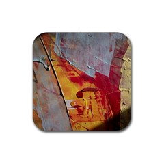 Painting Macro Color Oil Paint Rubber Coaster (square)