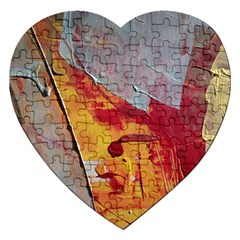 Painting Macro Color Oil Paint Jigsaw Puzzle (heart) by Sapixe