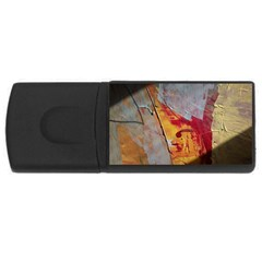 Painting Macro Color Oil Paint Rectangular Usb Flash Drive by Sapixe