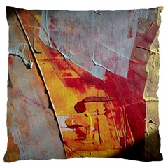 Painting Macro Color Oil Paint Large Flano Cushion Case (one Side) by Sapixe