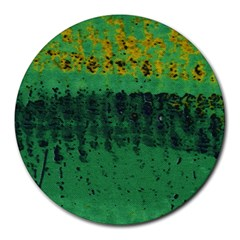 Green Fabric Textile Macro Detail Round Mousepads by Sapixe