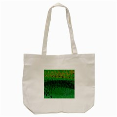 Green Fabric Textile Macro Detail Tote Bag (cream) by Sapixe