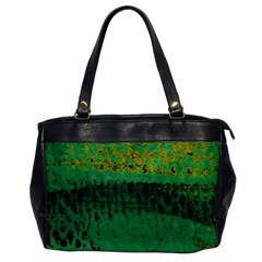 Green Fabric Textile Macro Detail Office Handbags by Sapixe