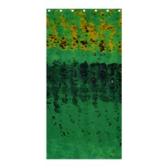 Green Fabric Textile Macro Detail Shower Curtain 36  X 72  (stall)  by Sapixe