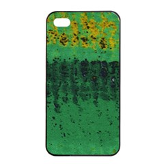 Green Fabric Textile Macro Detail Apple Iphone 4/4s Seamless Case (black) by Sapixe