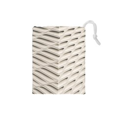 Backround Pattern Texture Dimension Drawstring Pouches (small)