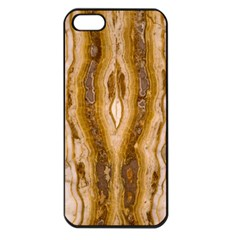 Marble Wall Surface Pattern Apple Iphone 5 Seamless Case (black) by Sapixe
