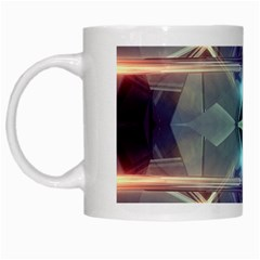 Abstract Glow Kaleidoscopic Light White Mugs