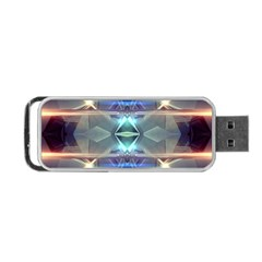 Abstract Glow Kaleidoscopic Light Portable Usb Flash (one Side)