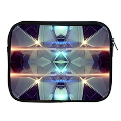 Abstract Glow Kaleidoscopic Light Apple Ipad 2/3/4 Zipper Cases