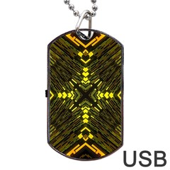 Abstract Glow Kaleidoscopic Light Dog Tag Usb Flash (one Side) by Sapixe