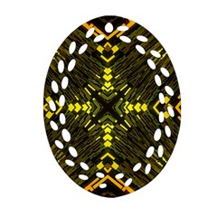 Abstract Glow Kaleidoscopic Light Oval Filigree Ornament (two Sides) by Sapixe