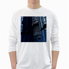 Graphic Design Background White Long Sleeve T-shirts by Sapixe
