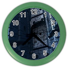 Graphic Design Background Color Wall Clocks