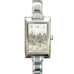Pencil Drawing Drawing Port Rectangle Italian Charm Watch by Sapixe