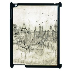 Pencil Drawing Drawing Port Apple Ipad 2 Case (black) by Sapixe