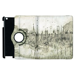 Pencil Drawing Drawing Port Apple Ipad 3/4 Flip 360 Case by Sapixe