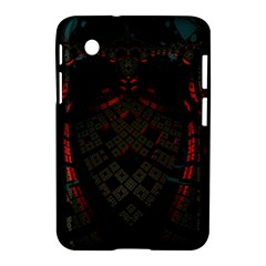 Fractal 3d Dark Red Abstract Samsung Galaxy Tab 2 (7 ) P3100 Hardshell Case  by Sapixe