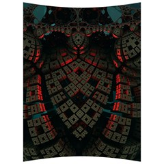 Fractal 3d Dark Red Abstract Back Support Cushion by Sapixe