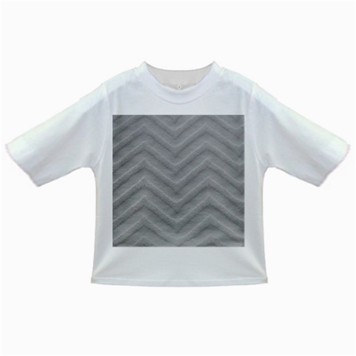 White Fabric Pattern Textile Infant/Toddler T-Shirts