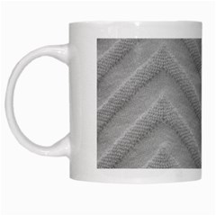 White Fabric Pattern Textile White Mugs