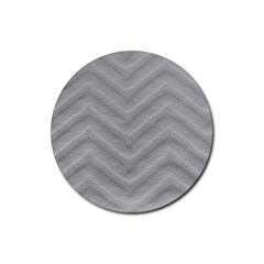 White Fabric Pattern Textile Rubber Round Coaster (4 Pack)  by Sapixe