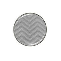 White Fabric Pattern Textile Hat Clip Ball Marker (4 Pack)