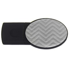 White Fabric Pattern Textile Usb Flash Drive Oval (4 Gb)