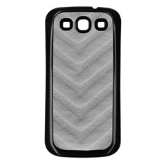White Fabric Pattern Textile Samsung Galaxy S3 Back Case (black)