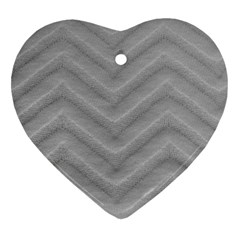 White Fabric Pattern Textile Heart Ornament (two Sides)