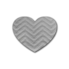 White Fabric Pattern Textile Heart Coaster (4 Pack)  by Sapixe