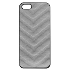 White Fabric Pattern Textile Apple Iphone 5 Seamless Case (black) by Sapixe
