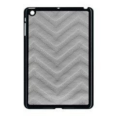 White Fabric Pattern Textile Apple Ipad Mini Case (black)