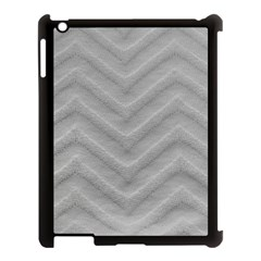 White Fabric Pattern Textile Apple Ipad 3/4 Case (black)