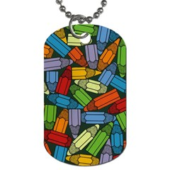 Colored Pencils Pens Paint Color Dog Tag (one Side)