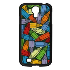 Colored Pencils Pens Paint Color Samsung Galaxy S4 I9500/ I9505 Case (black) by Sapixe