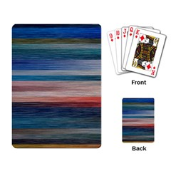 Background Horizontal Lines Playing Card by Sapixe