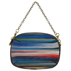 Background Horizontal Lines Chain Purses (two Sides)