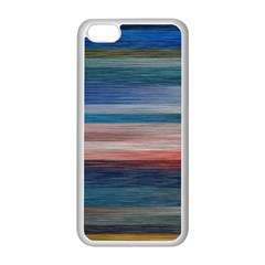 Background Horizontal Lines Apple Iphone 5c Seamless Case (white)