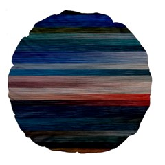 Background Horizontal Lines Large 18  Premium Flano Round Cushions by Sapixe