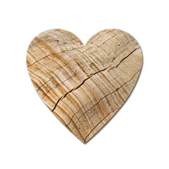 Abstract Brown Tree Timber Pattern Heart Magnet by Sapixe
